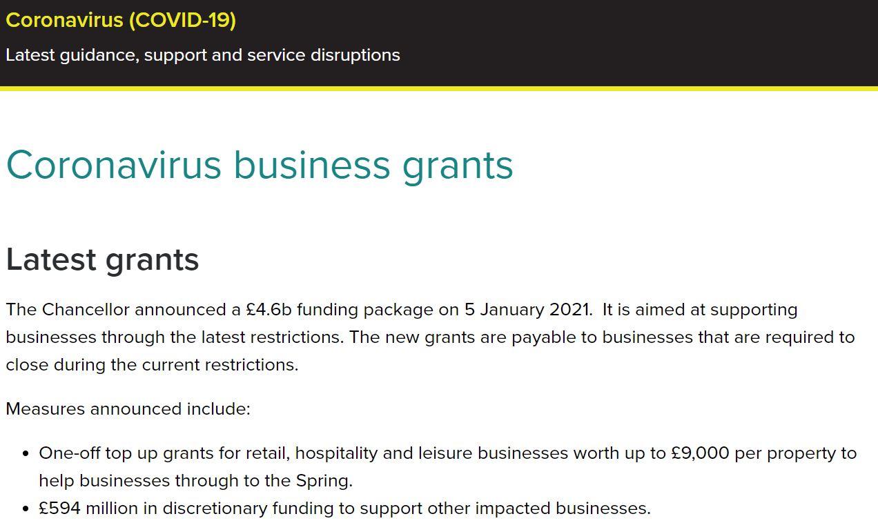Coronavirus Business Grants