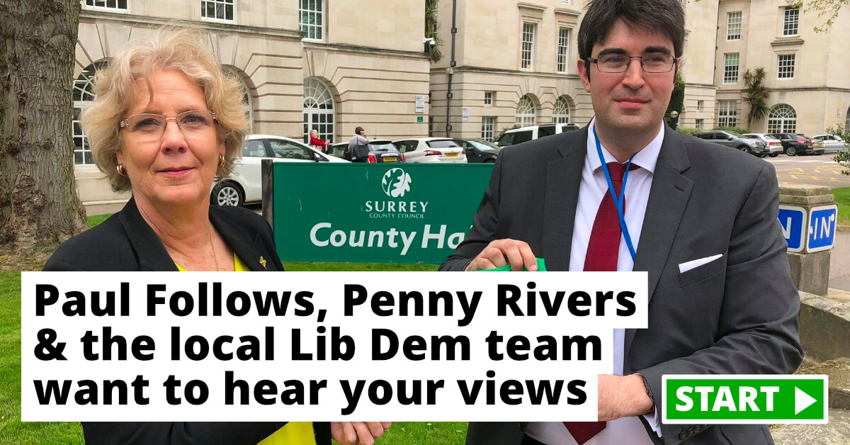 Paul and Penny launch residents' survey