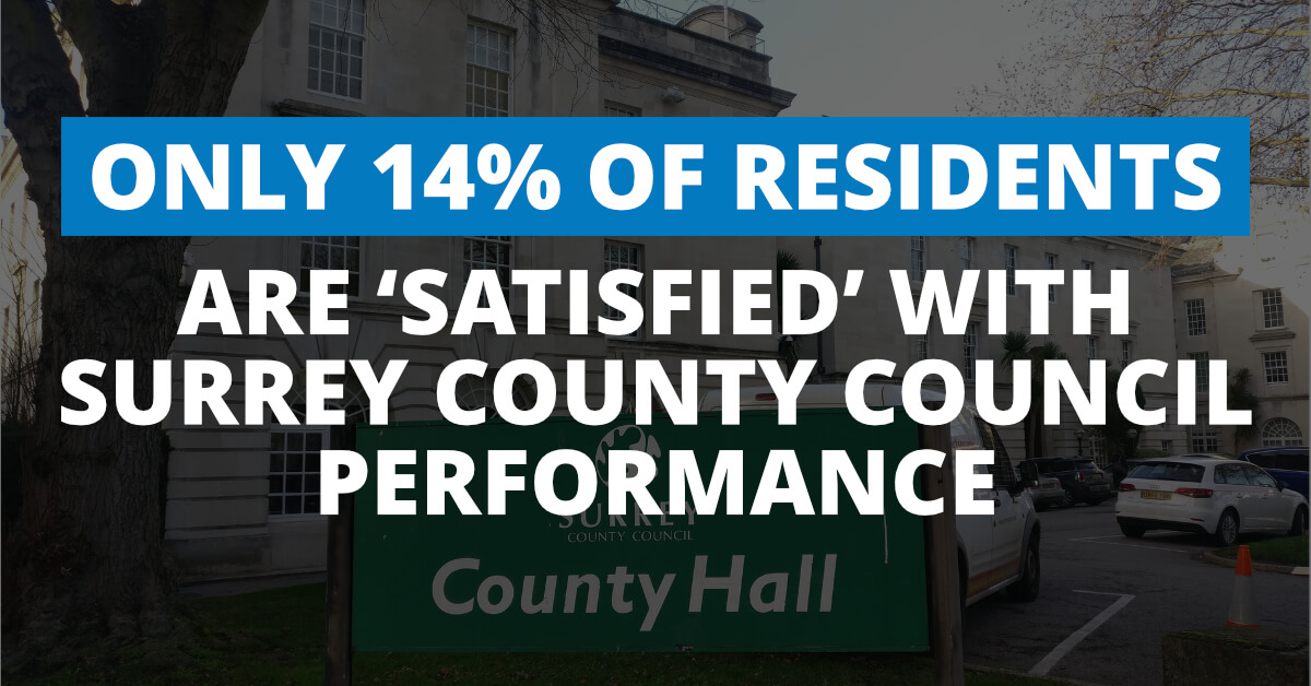 Massive thumbs down for Conservative-run Surrey County Council from residents