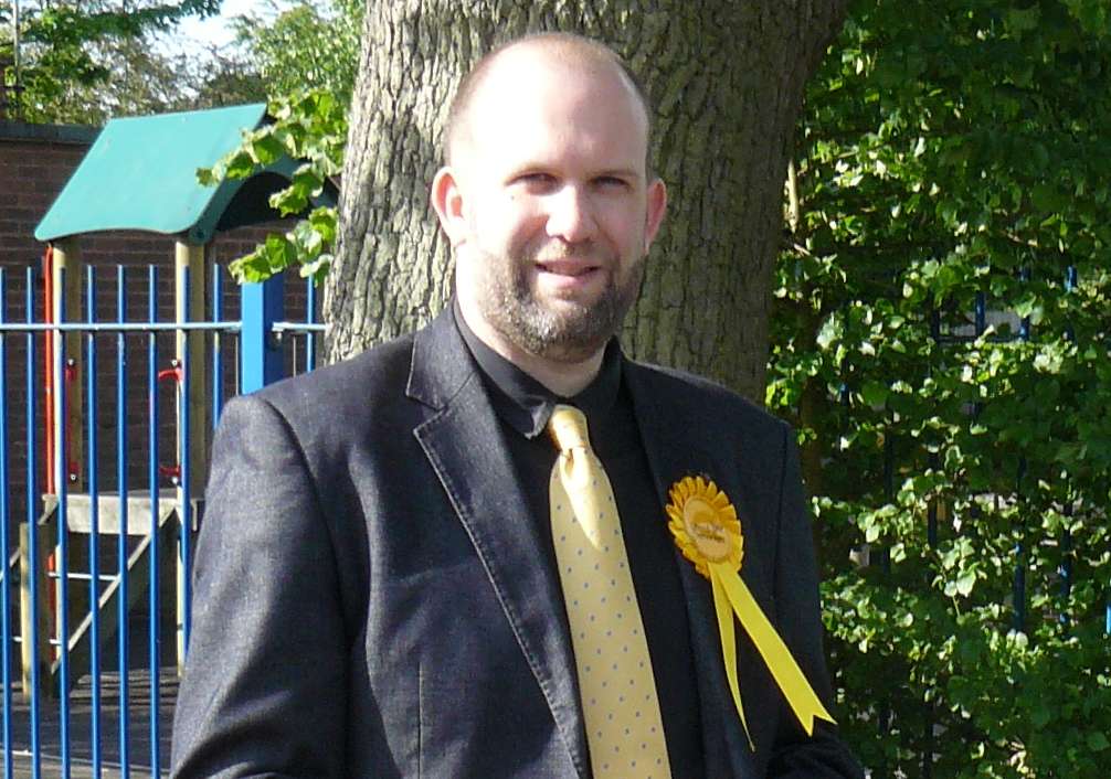 Ollie Purkiss Campaigns At A Local School