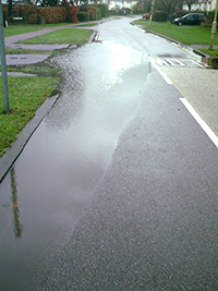 Handside lane flood