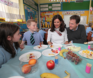 Nick Clegg and school dinners (Dave Radcliffe)