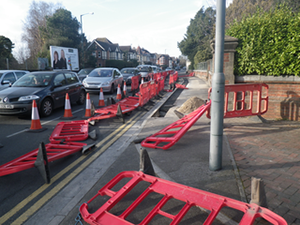 Cemetery Junction Roadworks (Liberal Democrats Bournemouth)