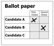 Supplementary vote ballot paper