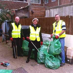 The LibDem community litter team – Nigel, Siobhán and Malcolm