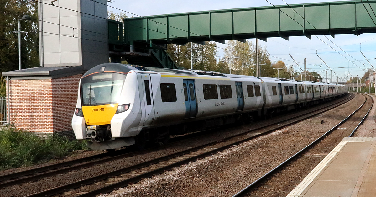 Thameslink service passing through Hatfield