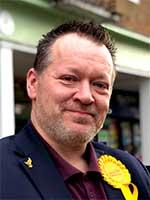 Darrell Panter, Lib dem candidate for Haldens