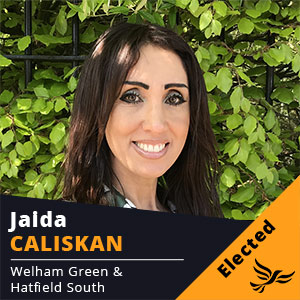 Jaida Caliskan - Councillor for Welham Green and Hatfield South