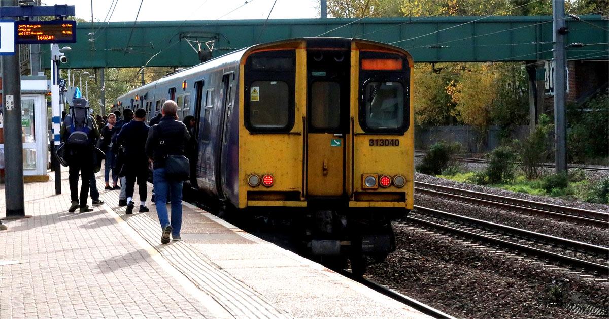 Commuter train at Hatfield