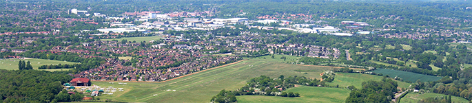 Looking West over Panshanger [Banner]
