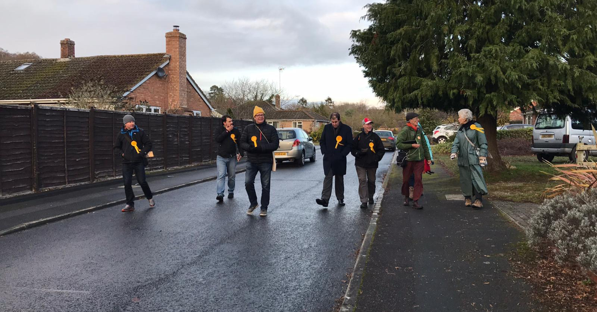 Local Lib Dems Welcome Return to Campaigning