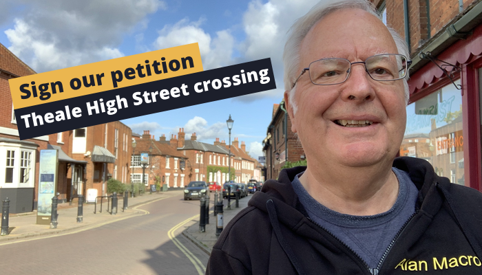 Pedestrian crossing for Theale High Street