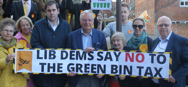 Lib Dems submit 7,500 strong petition calling to scrap the Green Bin Tax