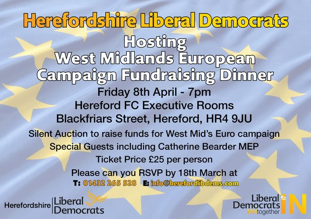 West Midlands European Campaign Fundraising Dinner