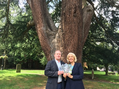 'Malvern, home to the country's finest classical Urban Arboretum', says Cllr Beverley Nielsen, for Malvern Priory
