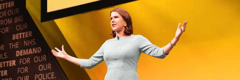 Jo Swinson on Stage