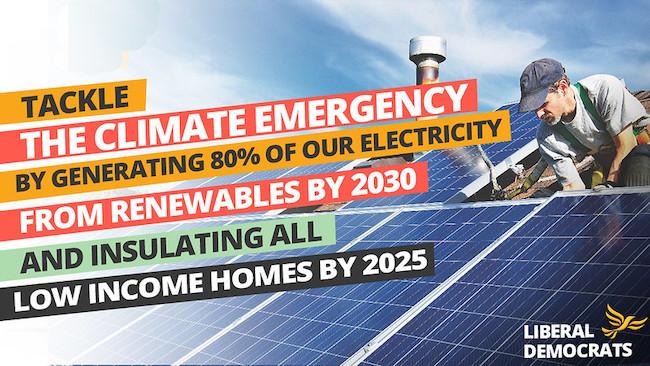 LibDem Tackle Climate Emergency banner