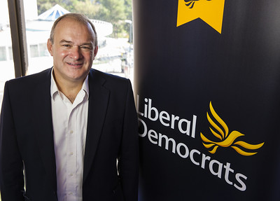 Photo of Liberal Democrat Shadow Chancellor Ed Davey