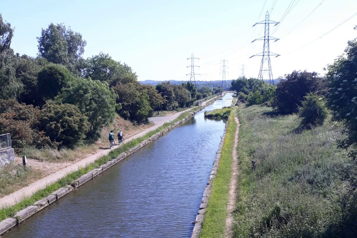 Canal towpath in Sandwell