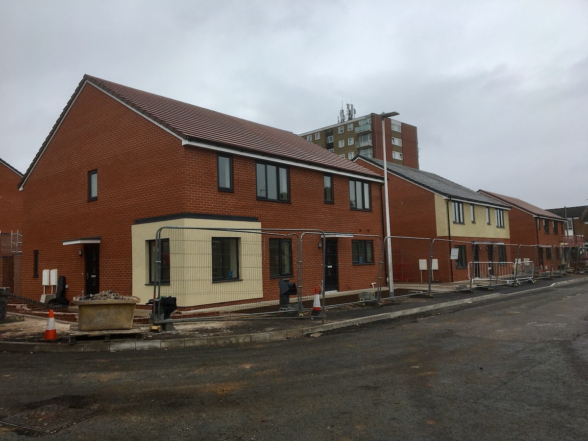 Photo of new houes being built in Hamstead.