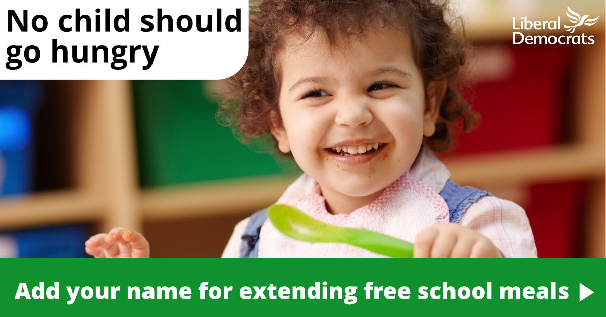 Extend Free School Meals into Holiday Season