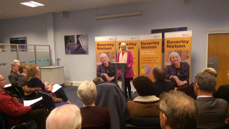 Beverley Nielsen placed the EU and the next generation at the heart of her election bid at her campaign launch today