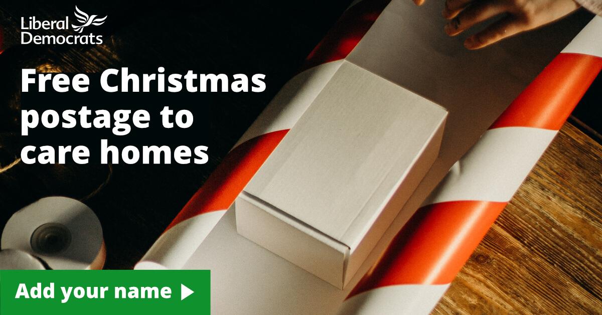 Free Christmas postage to care homes