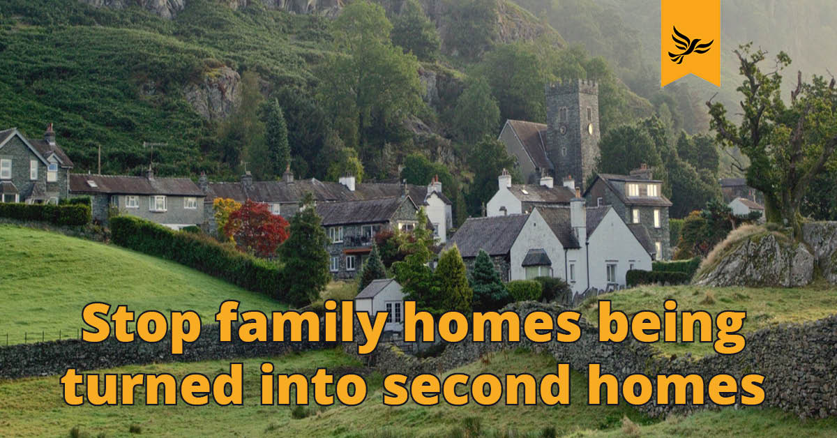 Stop family homes being turned into second homes