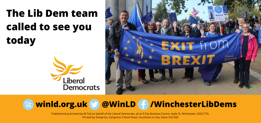 Lib Dem Exit from Brexit calling card