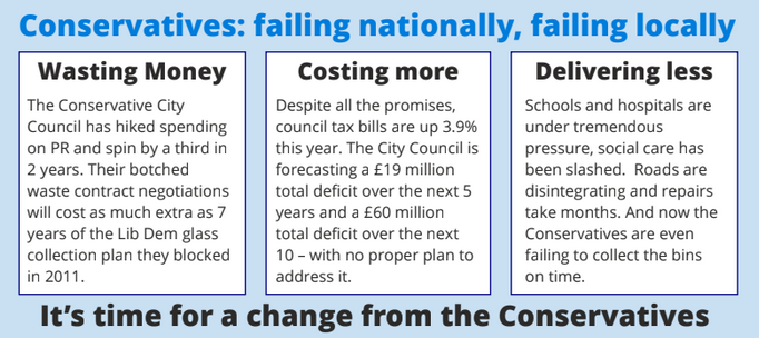 Conservatives - failing nationally, failing locally