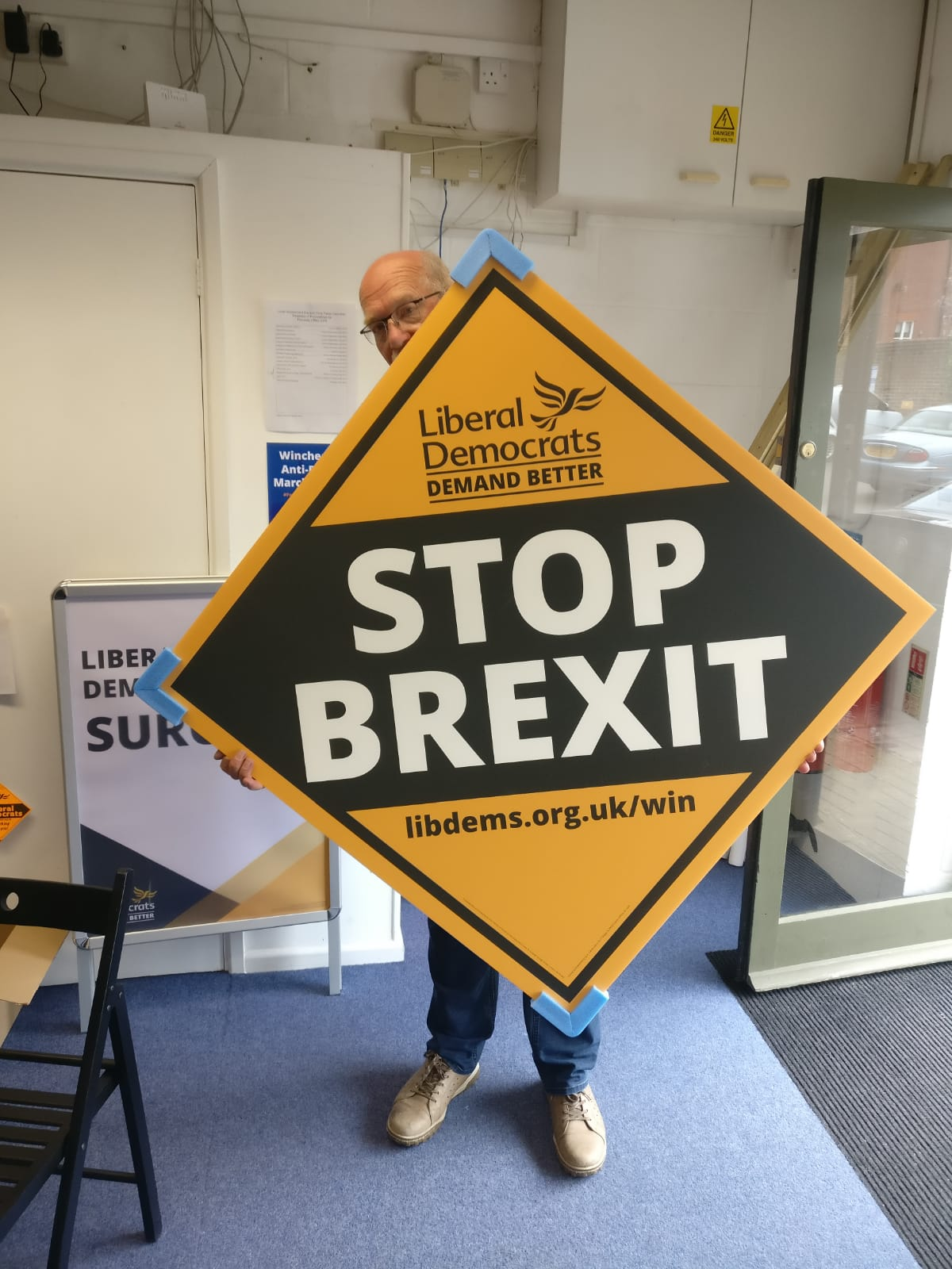 Stop Brexit - diamond placard