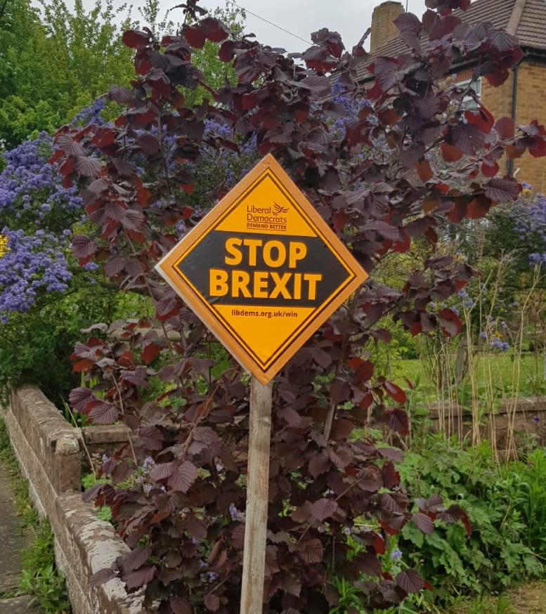 Stop Brexit Garden Poster
