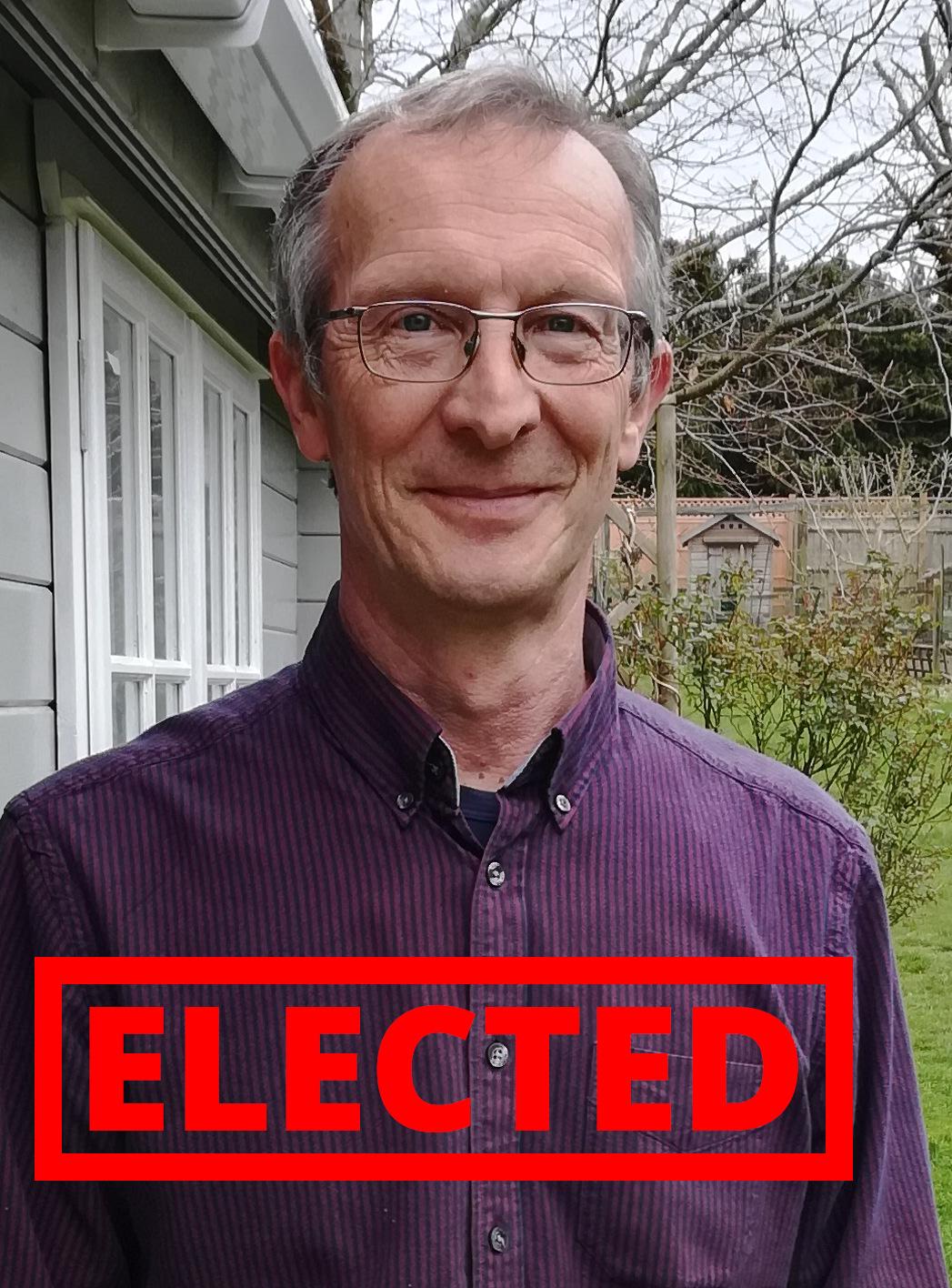 Tony Bronk - elected!