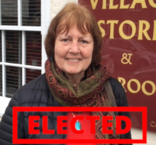 Therese Evans - elected!