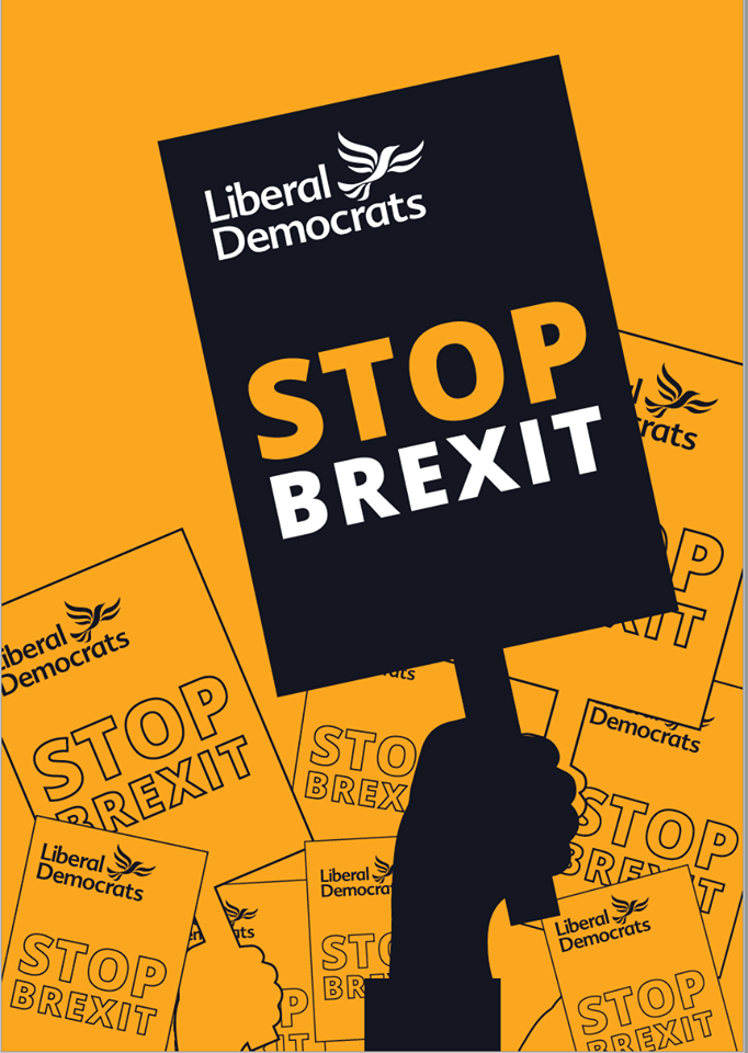 Cover of the Lib Dem 'Stop Brexit' Manifesto