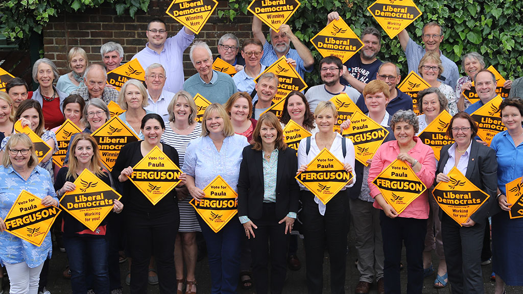 Paula Ferguson and the local Liberal Democrat team