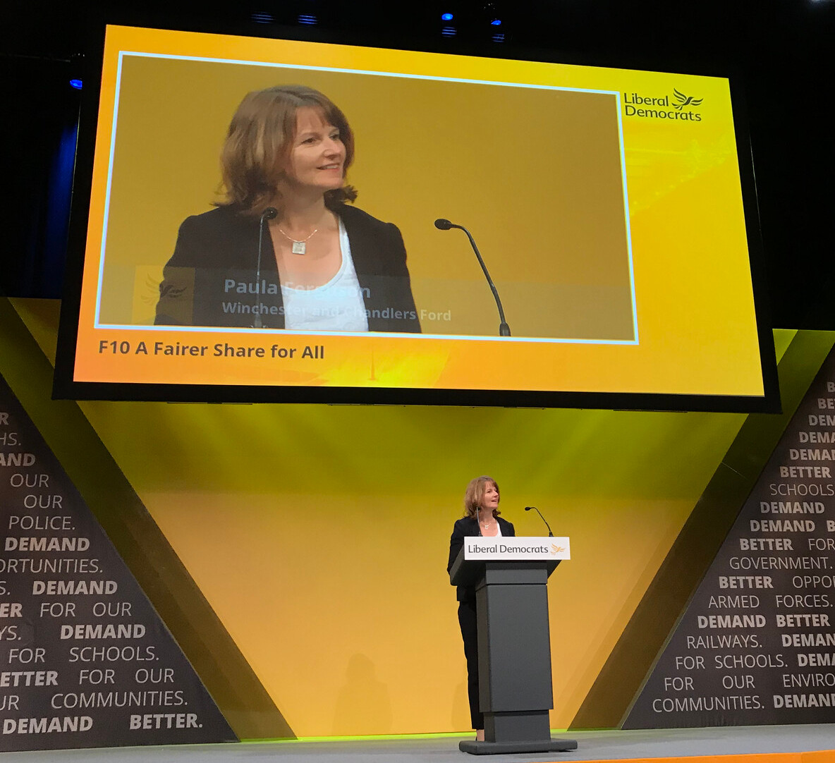 Paula Ferguson, speaking at the Liberal Democrat conference, on the subject of inequality
