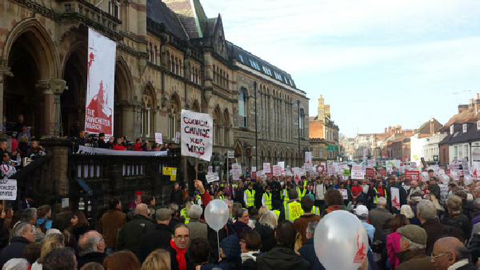 Winchester March shows dissatisfaction with Conservative rule