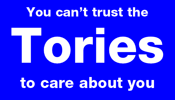 You can't trust the Tories