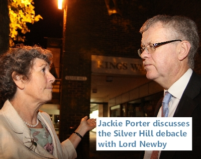 Jackie Porter discusses the Silver Hill debacle with Lord Newby