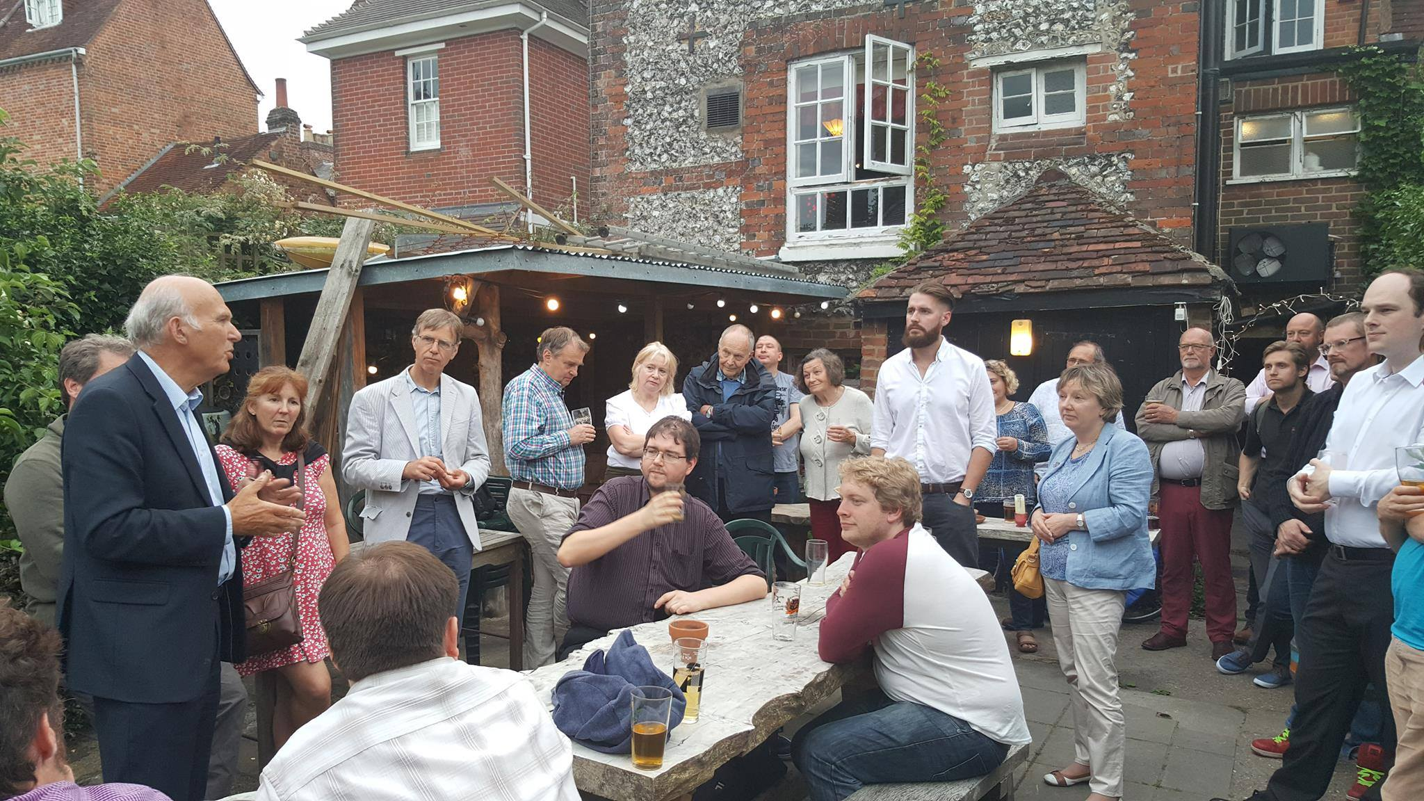 Sir Vince addressing Lib Dem Activists in Winchester last year