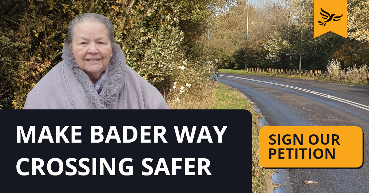 Make the Bader Way crossing point safer