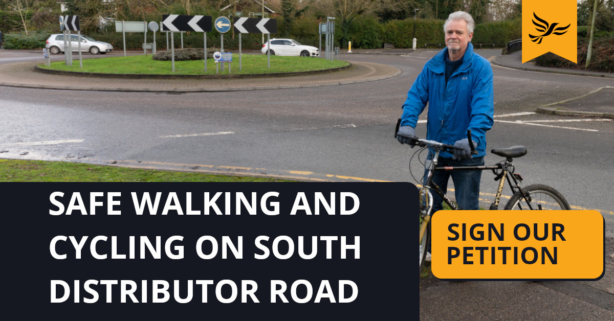 Safe Walking and Cycling on the South Wokingham Distributor Road