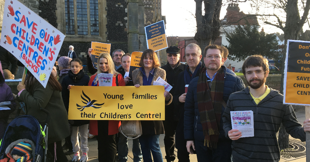 Lib Dem Members Campaigning Against Cuts To Our Children's Centres