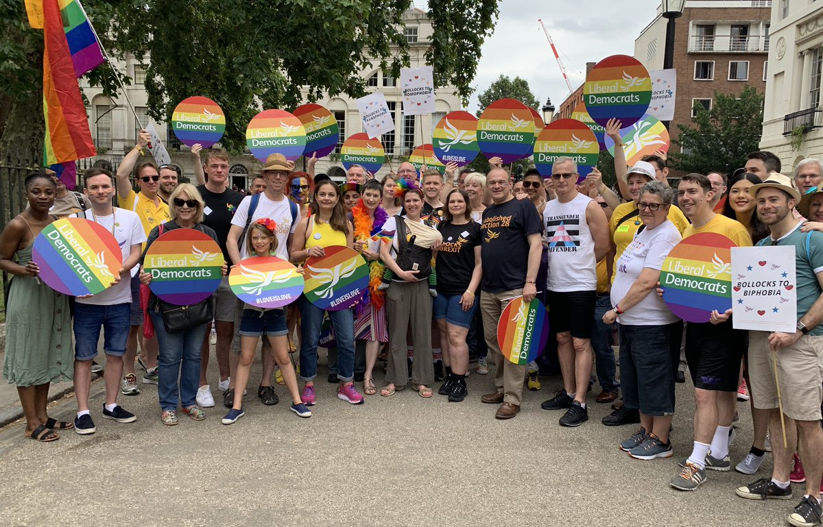 Liberal Democrats at London Pride