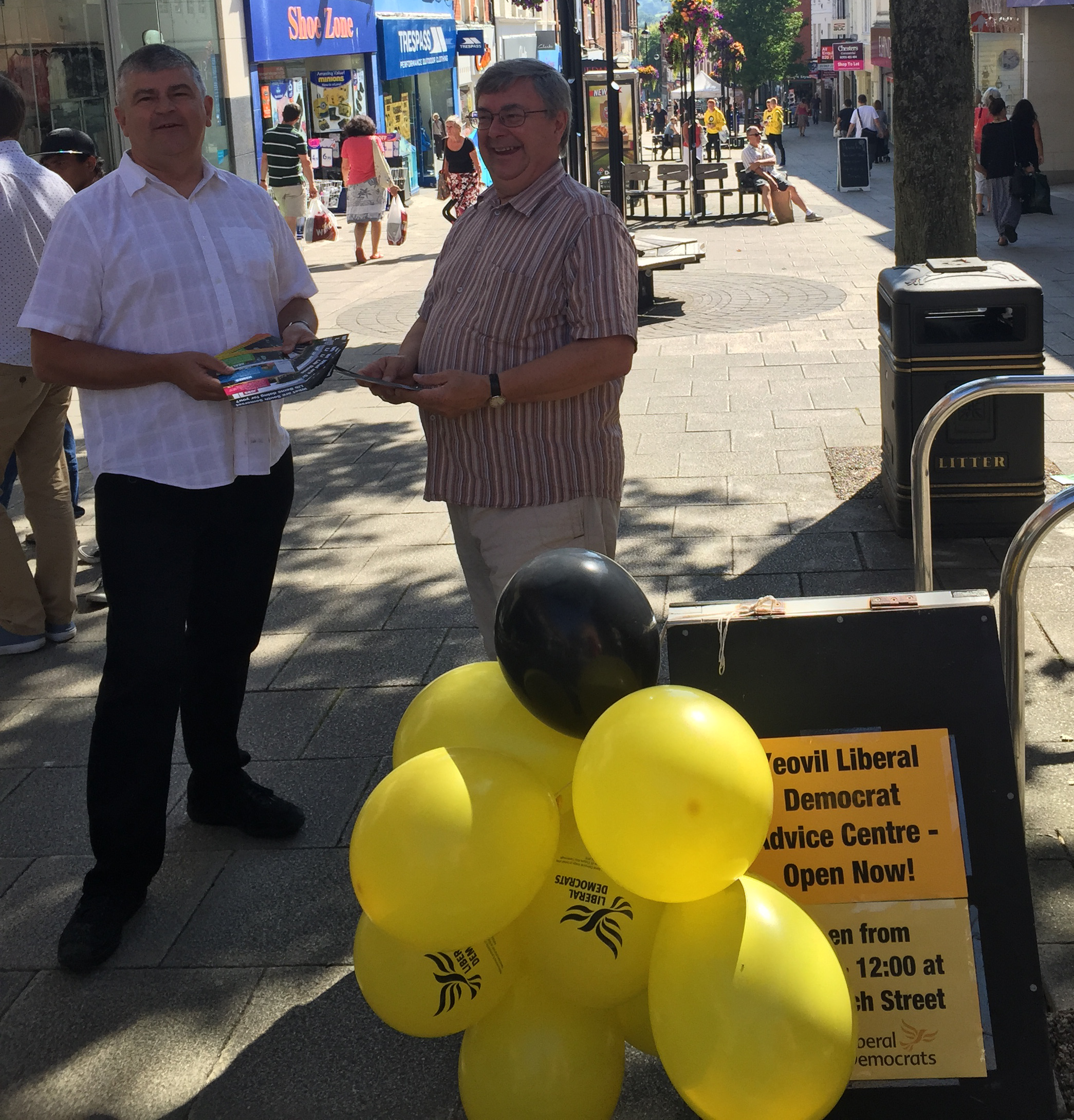 Yeovil Liberal Democrats Councillors hold open Advice Centres