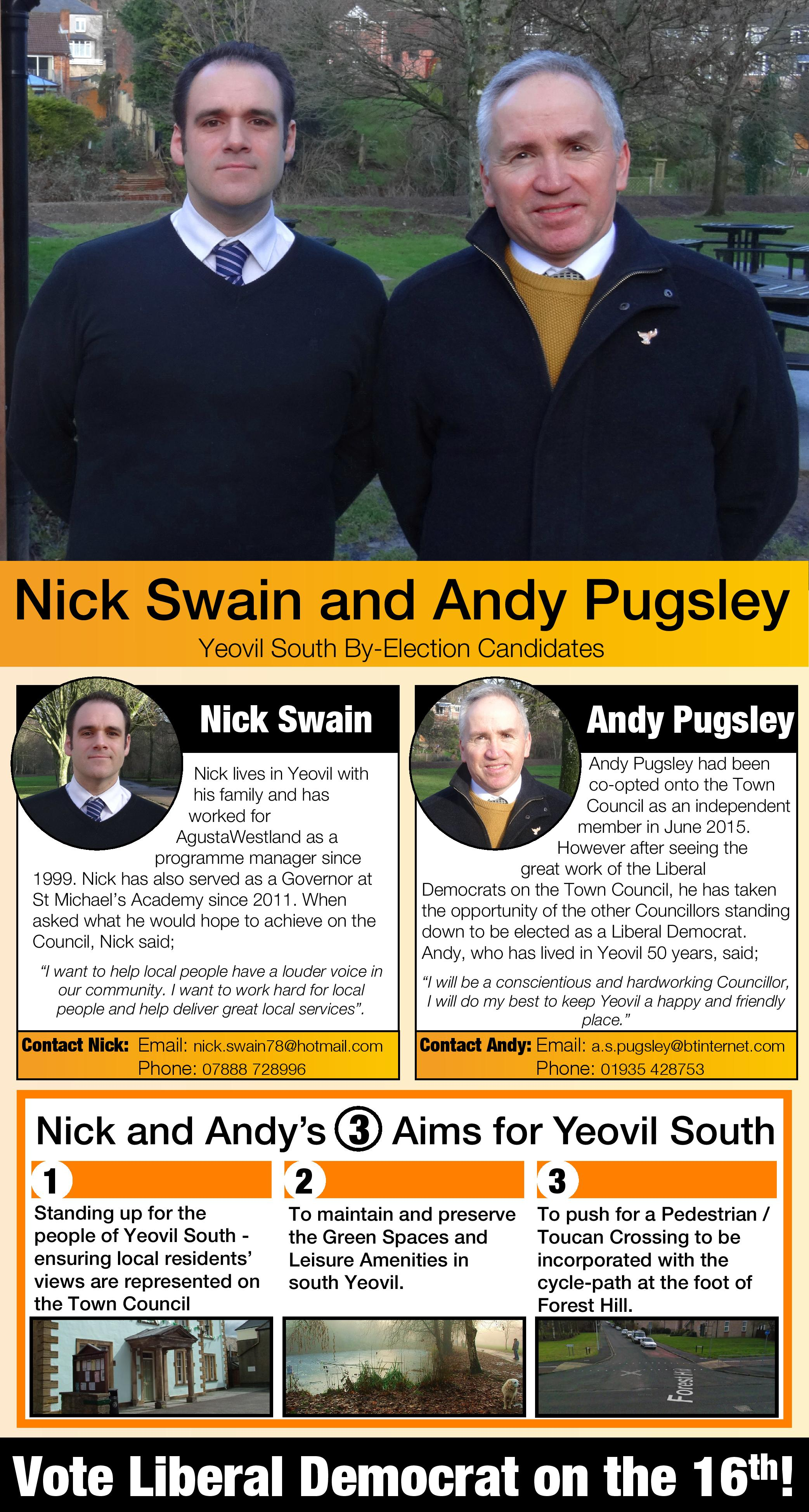 Yeovil South Candidates