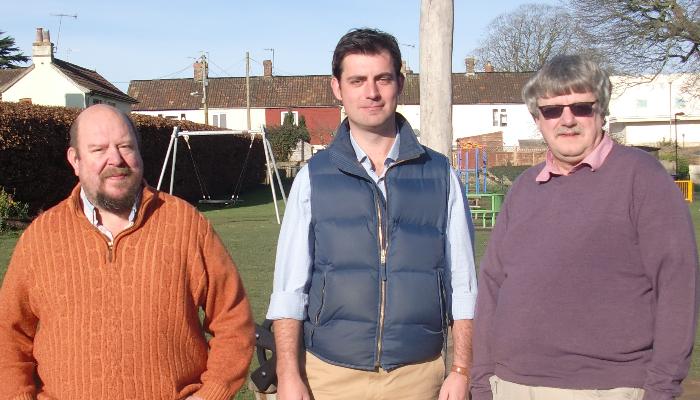Robin Pailthorpe, Ben Hodgson and Mike Best