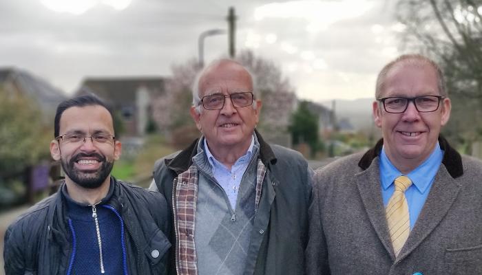 Kaysar Hussain, Peter Gubbins and Andy Kendall