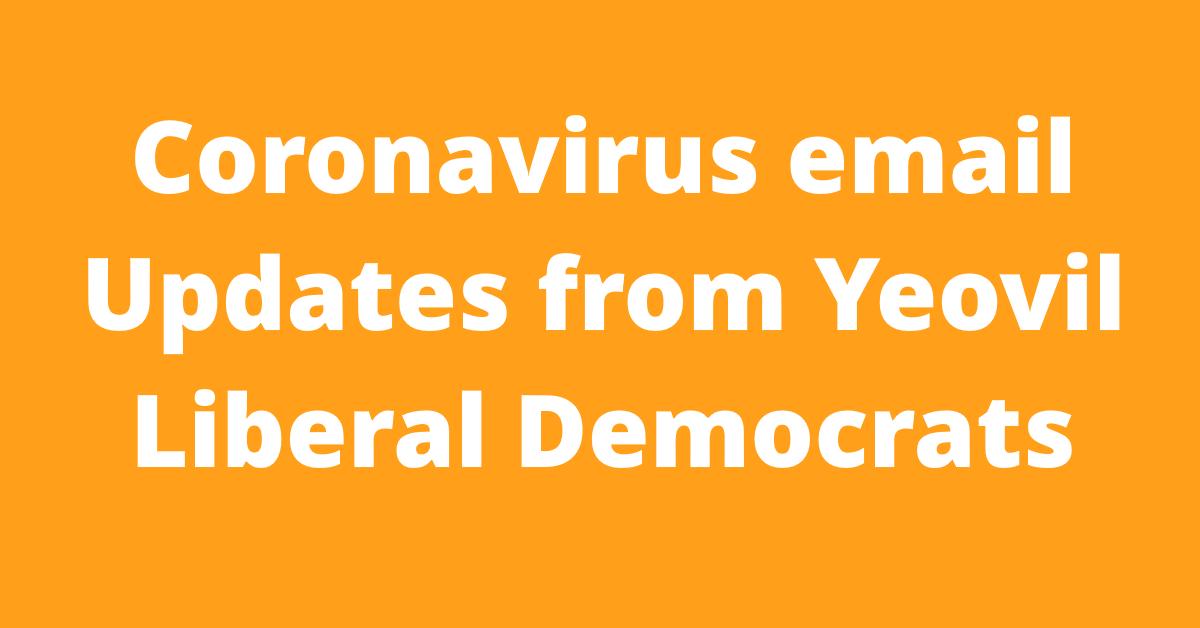 Coronavirus email updates